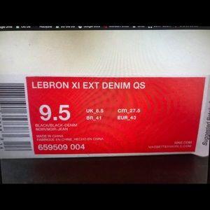reputable site 28984 edfe0 Nike Shoes - Nike - Lebron XI EXT Denim QS - 659509 004
